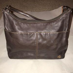 Ralph Lauren Brown leather shoulder bag purse